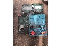 Job lot of electrical tools
