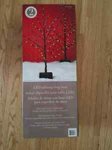 """2× 25.2"""" LED Twig Xmas Trees Battery Operated w/ timer function London Ontario image 3"""