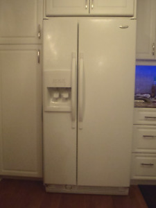 Side by Side Whirlpool Fridge/Freezer