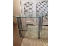 Glass TV and coffee table £40.00 for both items