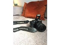 Canon EOS 400d with 18-55mm lens and charger, digital SLR