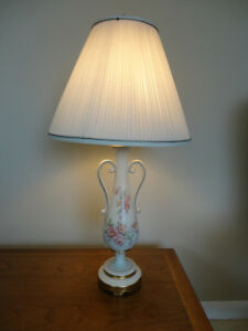 Vintage Victorian Trophy Style Table Lamp w/Pink Roses Kitchener / Waterloo Kitchener Area image 1