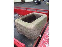 Large granite trough proper old & heavy