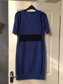 NEW KAREN MILLEN BODYCON STRETCHY DRESS SIZE 4 (12-14) DESIGNER