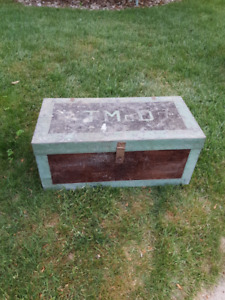 old wooden carpenters box , trunk
