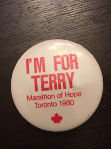 Terry Fox Marathon of Hope Pin Back Button