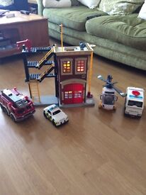 Fisher Price Emergency Vehicles & Fire Station
