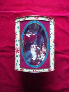 CHRISTMAS CAT TIN ORNAMENT VICTORIAN STYLE PRINTS