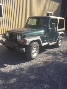 2000 Jeep TJ Sport SUV, Crossover - 6 cyl.