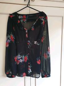 Next floral tie back blouse size 12