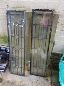 2x external door glass