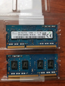 2x4GB DDR3L RAM 8gb kit