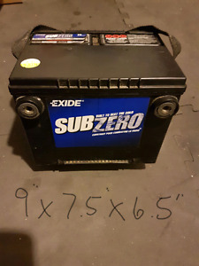 Exide Subzero Battery