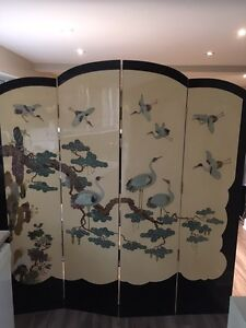 Paravent Chinois Antique / Antique Chinese Folding Screen