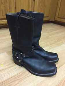 Men's Boulet 6082 Black Harness Motorcycle Boots