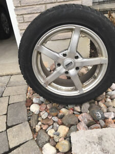 Bridgestone Blizzak Snow Tires and Aluminum Rims