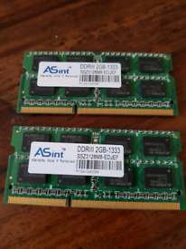 MEMORY 2X2GB DDR3 LAPTOP