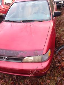 1994 Toyota Corolla Sedan, parts or repair
