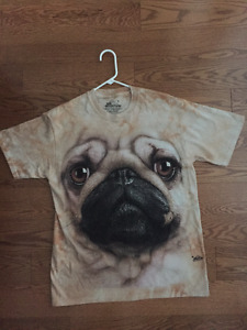 Great PUG t-shirt! BRAND NEW NEVER WORN
