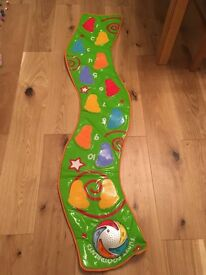 Funky footprints light and sounds toy