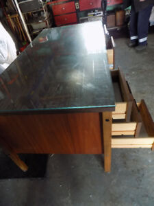 Large Office Desk with Filing Drawer