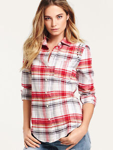 VICTORIA'S SECRET STUDDED FLANNEL SHIRT