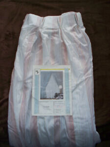 Pinch pleat top dusty rose long semi-sheer drapes - never used
