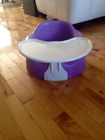 Bumbo with straps & tray