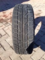 LIKE NEW WINTER SNOW TIRES on RIMS 185/55/15r