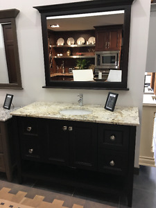 "54"" Dark Stained Maple Vanity"