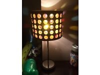 Multi Coloured Table Light - In Excellent Condition £7