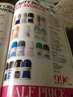 AVON Roll On Deodorants On Sale 99 Cents Each!
