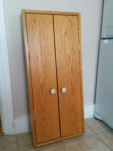 "Solid Oak Wall Cabinet   (36""  x  16""  x  3.75"")"
