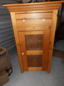 unique custom made solid pine wood cabinet
