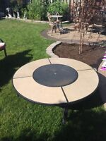 Patio table for sale. Includes fire pit!