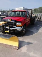 F350 4x4, snow plow and dump