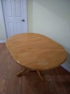 Solid oak dining table looking for a new home
