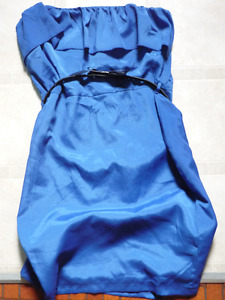 robe bustier bleue