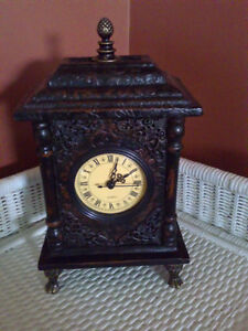 Decorative statement piece clock for mantle, table brand new