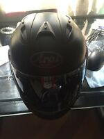 Almost new Arai Corsair V black matte with Dainese carbon gloves