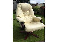 Leather swivel and recliner