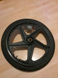 BMX stunt wheels set.