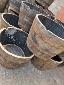 Half barrell planters