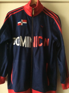 Adidas Dominican Track Jacket Blue/Red Men's Small