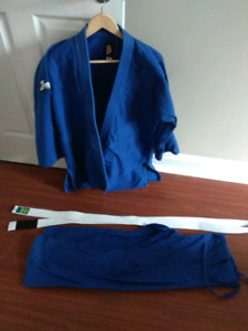 BJJ gi with belt and pants
