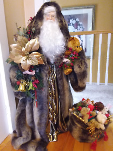 Old fashion Santa. 40 inches high, well decorated,
