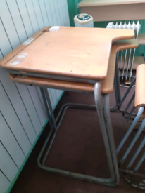 Retro/vintage school desks