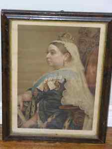 QUEEN VICTORIA PRINT . Framed