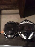 Two Motorcycle Helmets HJC SHARK- size L