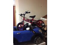 Kids ride on and bicycle for sale